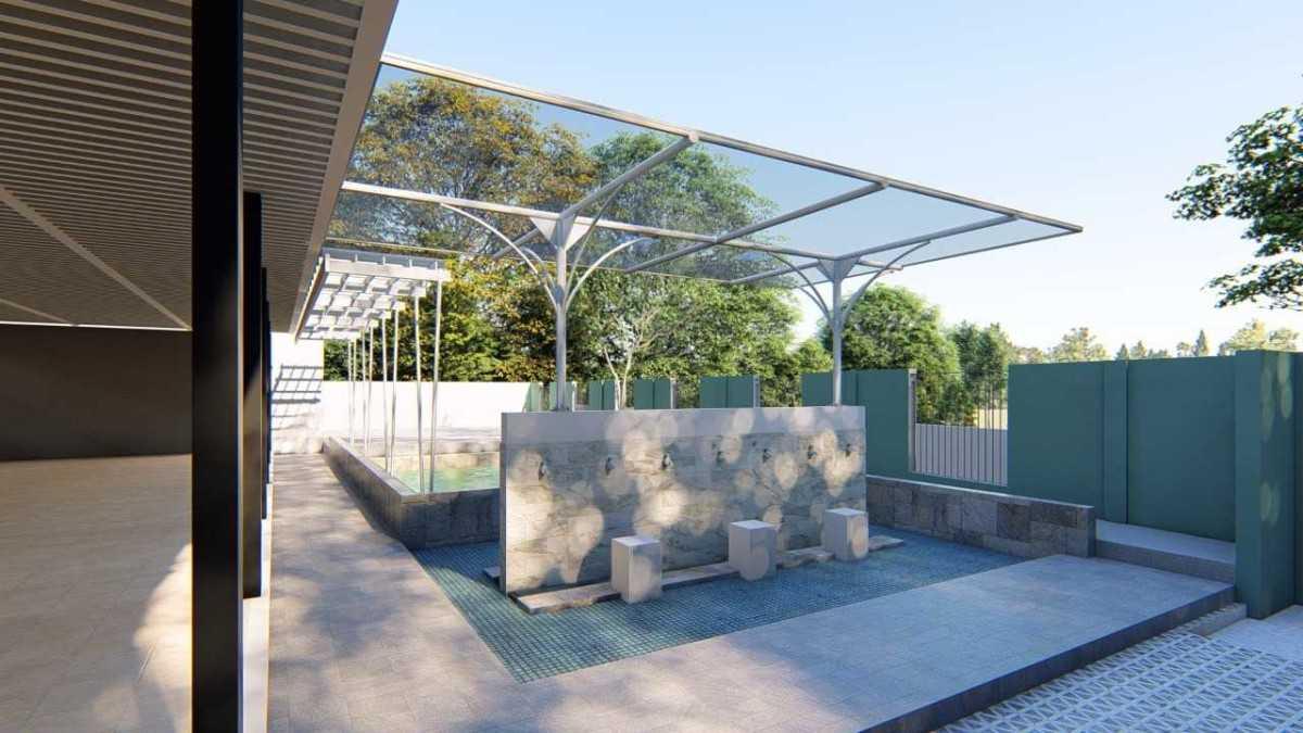 Desain Tempat Wudhu Masjid Minimalis Rumah Joglo Limasan Work