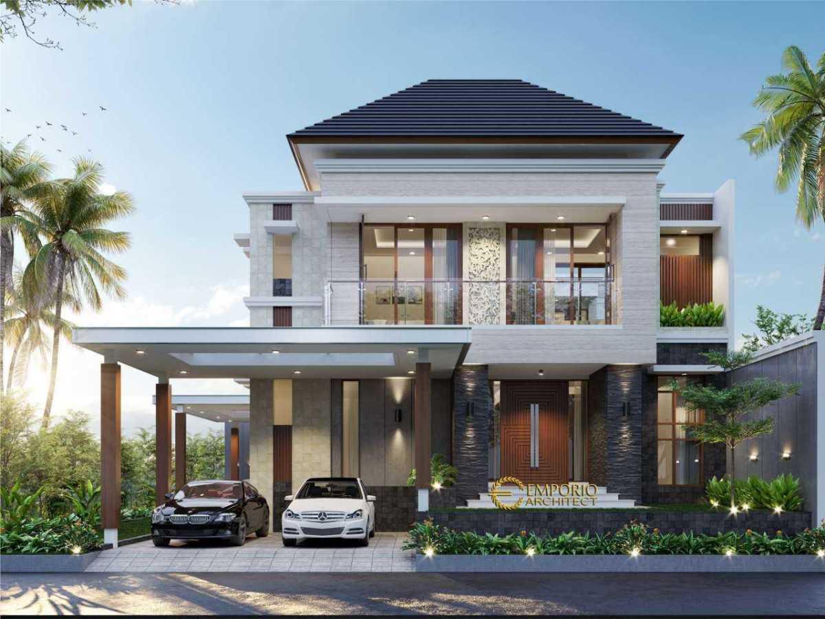 Project Jasa Arsitek Bandar Lampung Desain Rumah Modern Tropis 2 Lantai 763 Bandar Lampung Desain Arsitek Oleh Emporio Architect Arsitag