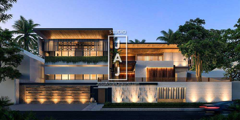 Project Jasa Arsitek Jakarta Desain Rumah Mewah 2 Lantai 10 Kamar Tidur Bergaya Kontemporer Desain Arsitek Oleh Studio Jaj Arsitag