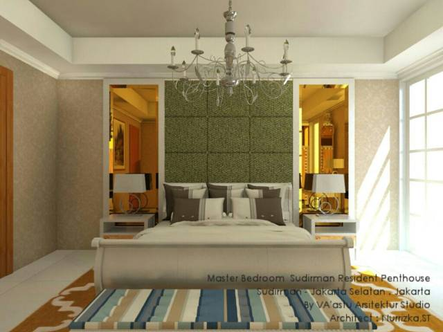 Vaastu Studio Living Room & Master Bedroom At The Sudirman Residence Jakarta Jakarta Master Bedroom   2039
