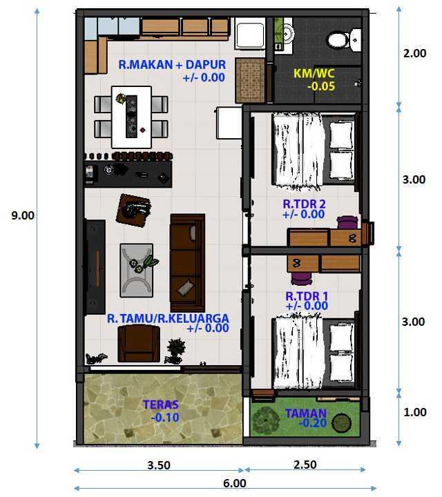 Archdesignbuild7 Rumah Minimalis Di Kopo Jl. Kopo Sayati , Bandung Jl. Kopo Sayati , Bandung Denah-Lt-Dasar Minimalis  13292