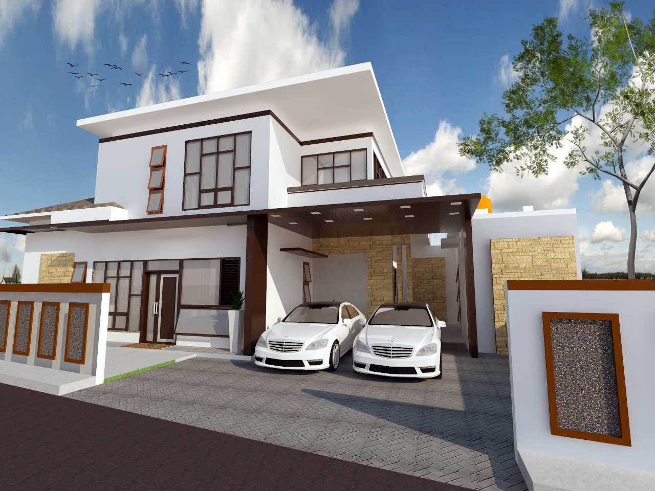 Archdesignbuild7 Project Rumah Tinggal 2 Lantai  Cimekar, Jatihandap Bandung Cimekar, Jatihandap Bandung Car Garage Modern  13442