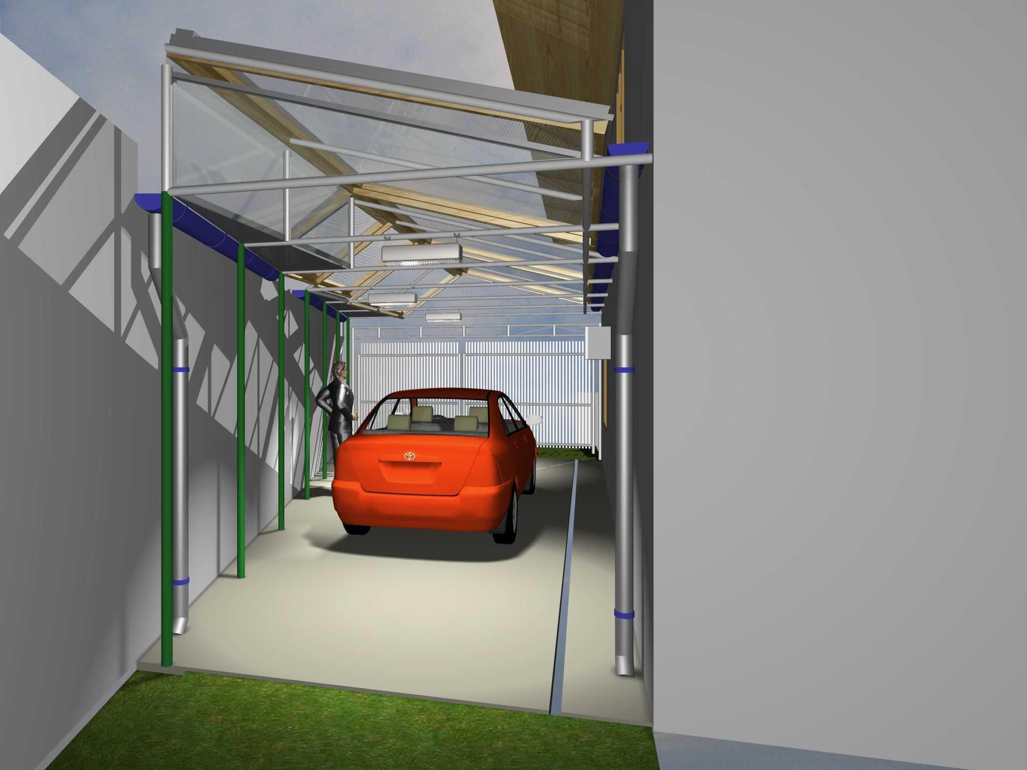 Archdesignbuild7 Project Atap Garasi Rumah Tinggal Jalan Sampoerna No 2 Bandung Jalan Sampoerna No 2 Bandung Tampak-Belakang Modern  17877