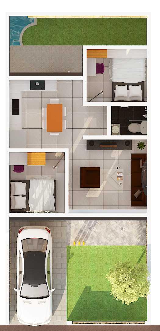 Archdesignbuild7 Rumah Tipe 36 Di Jatihandap Jatihandap, Bandung Jatihandap, Bandung Denah Minimalis  20129