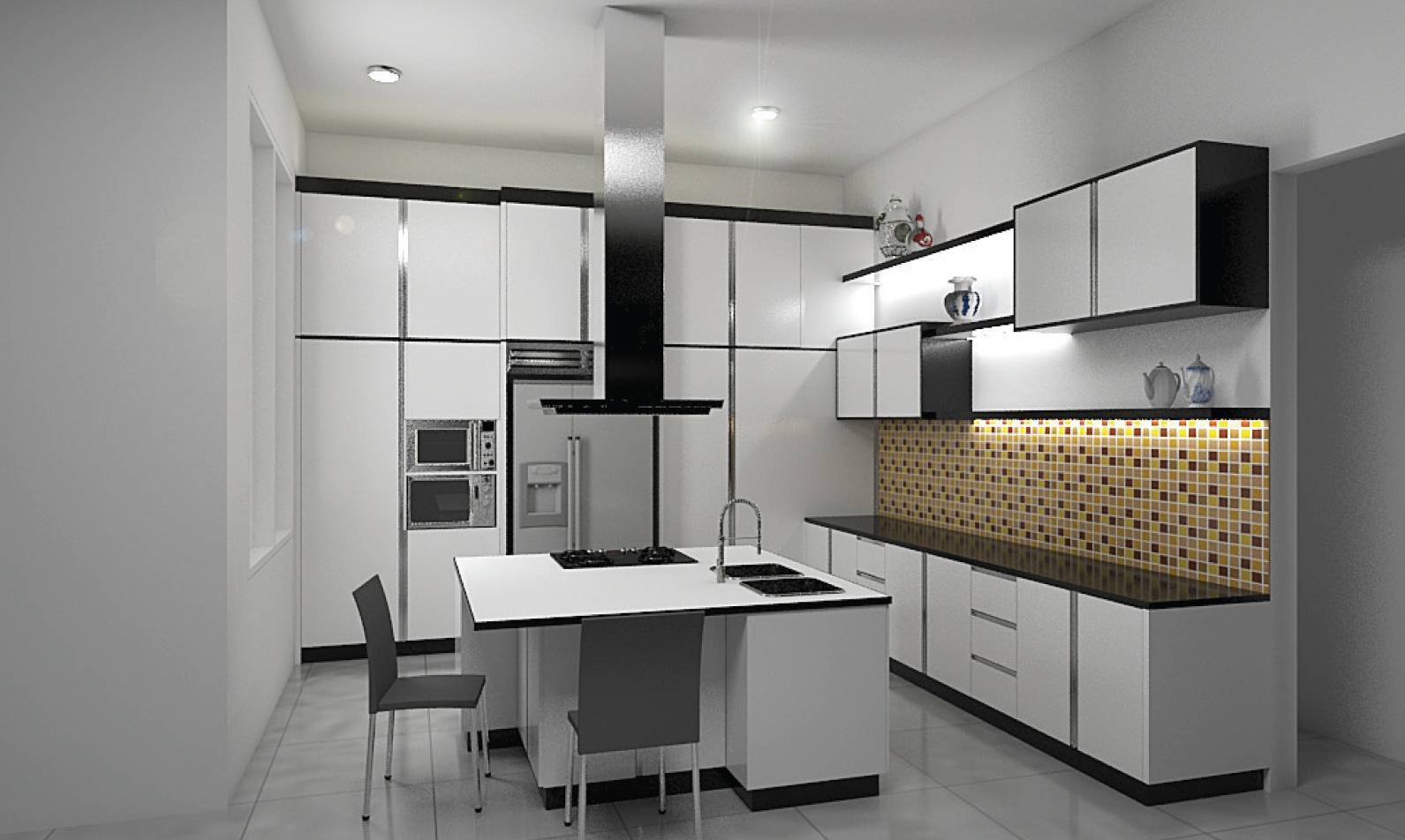 Independent Interior Design & Build Residential Kitchen Jakarta Jakarta Kitchen Modern  1840