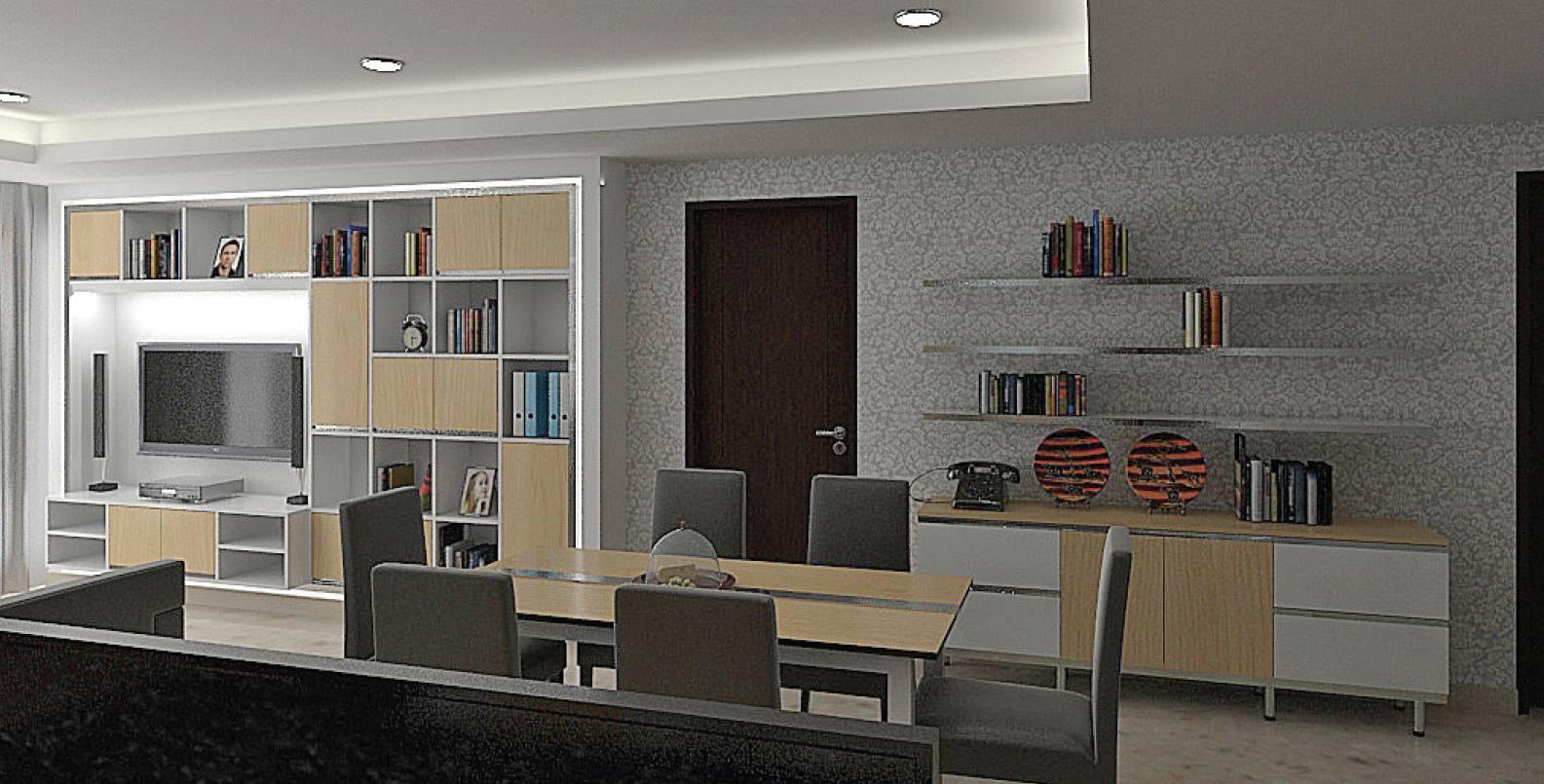 Photo Dining Room Residential Living Room 1 Desain Arsitek Oleh Independent Interior Design Build Arsitag