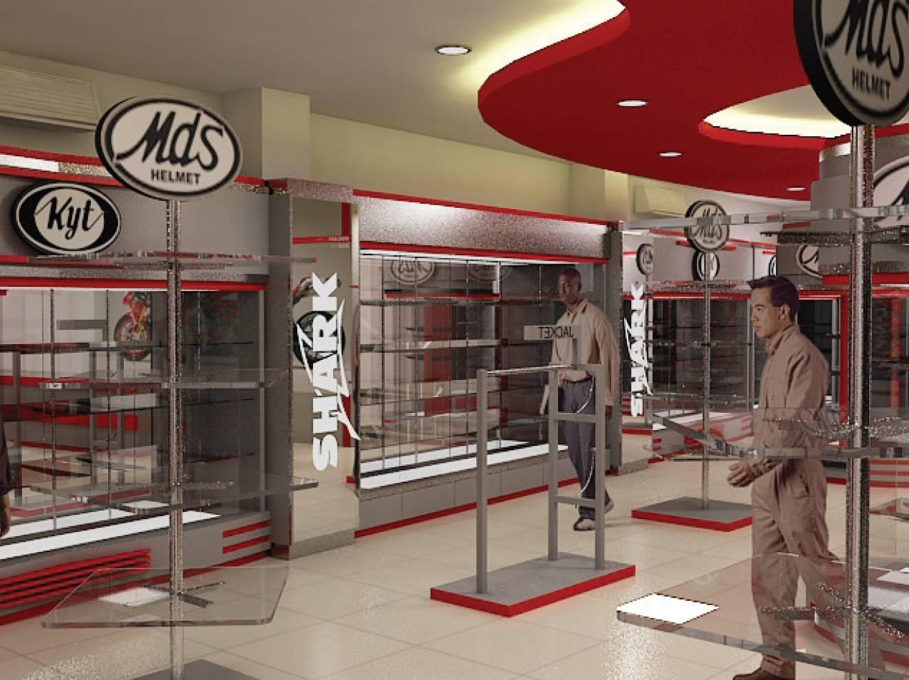 Independent interior design build retail helmet gallery jakarta jakarta ritel gallery modern 1851
