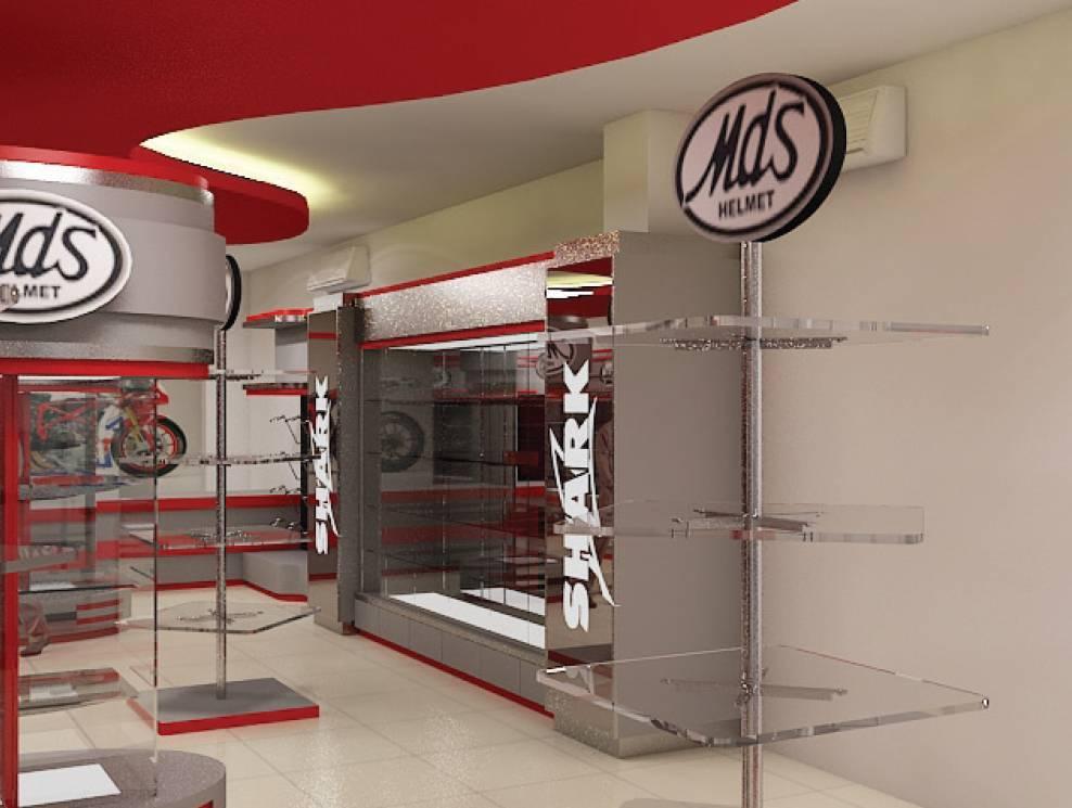 Independent Interior Design & Build Retail Helmet Gallery Jakarta Jakarta Ritel-Gallery Modern  1852