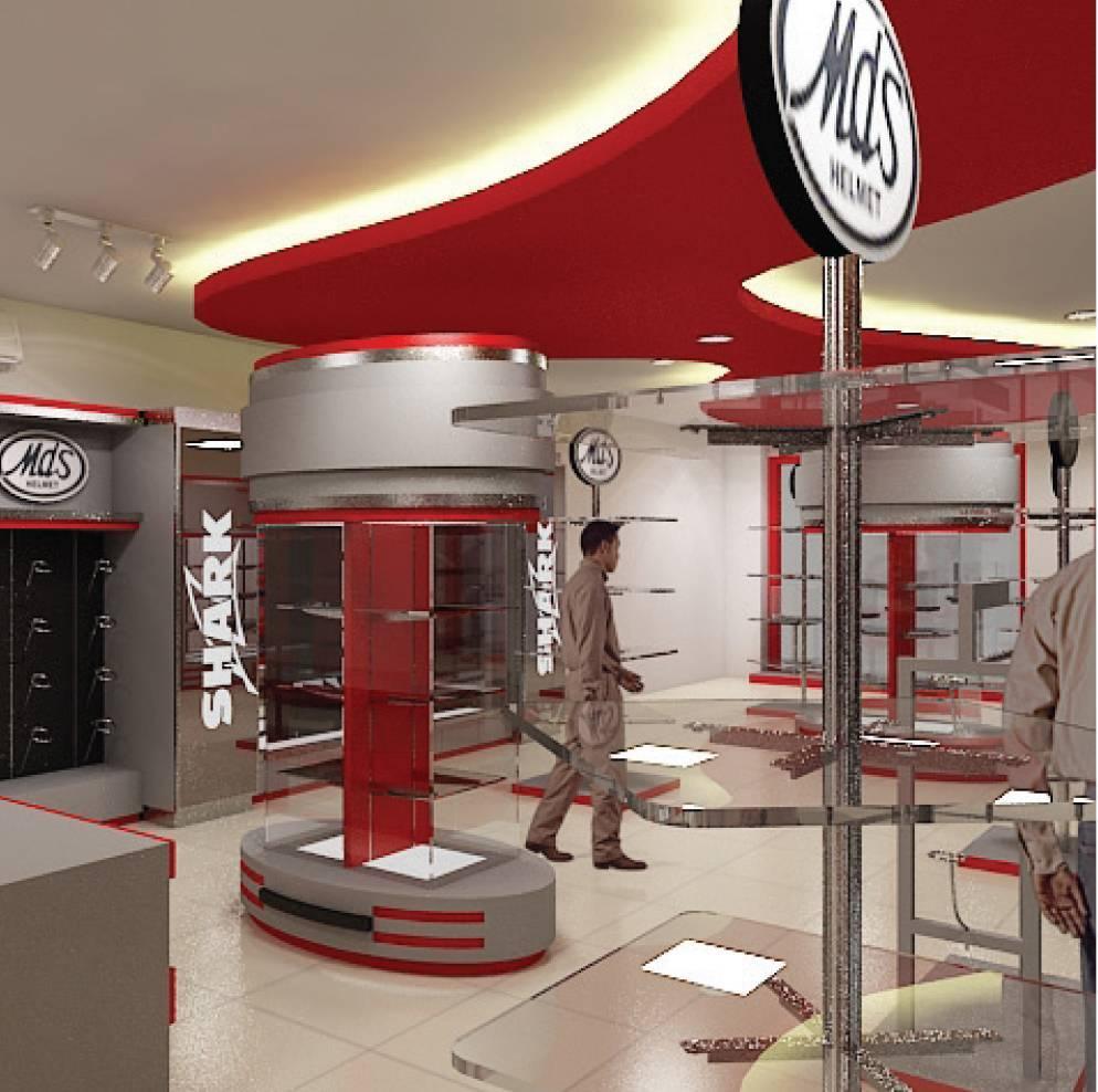 Independent Interior Design & Build Retail Helmet Gallery Jakarta Jakarta Ritel-Gallery Modern  1853