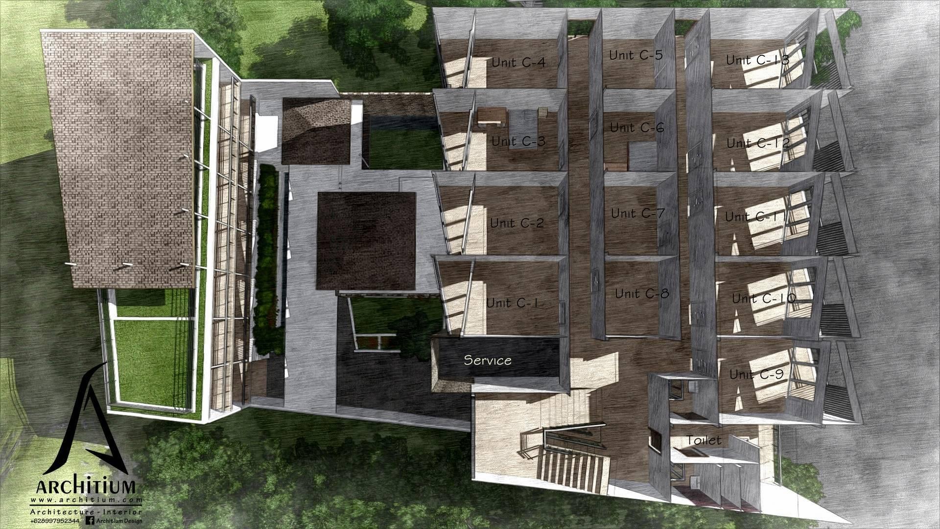 Architium Design Boarding House At Bandung West Java, Indonesia West Java, Indonesia L2 Kontemporer  2256