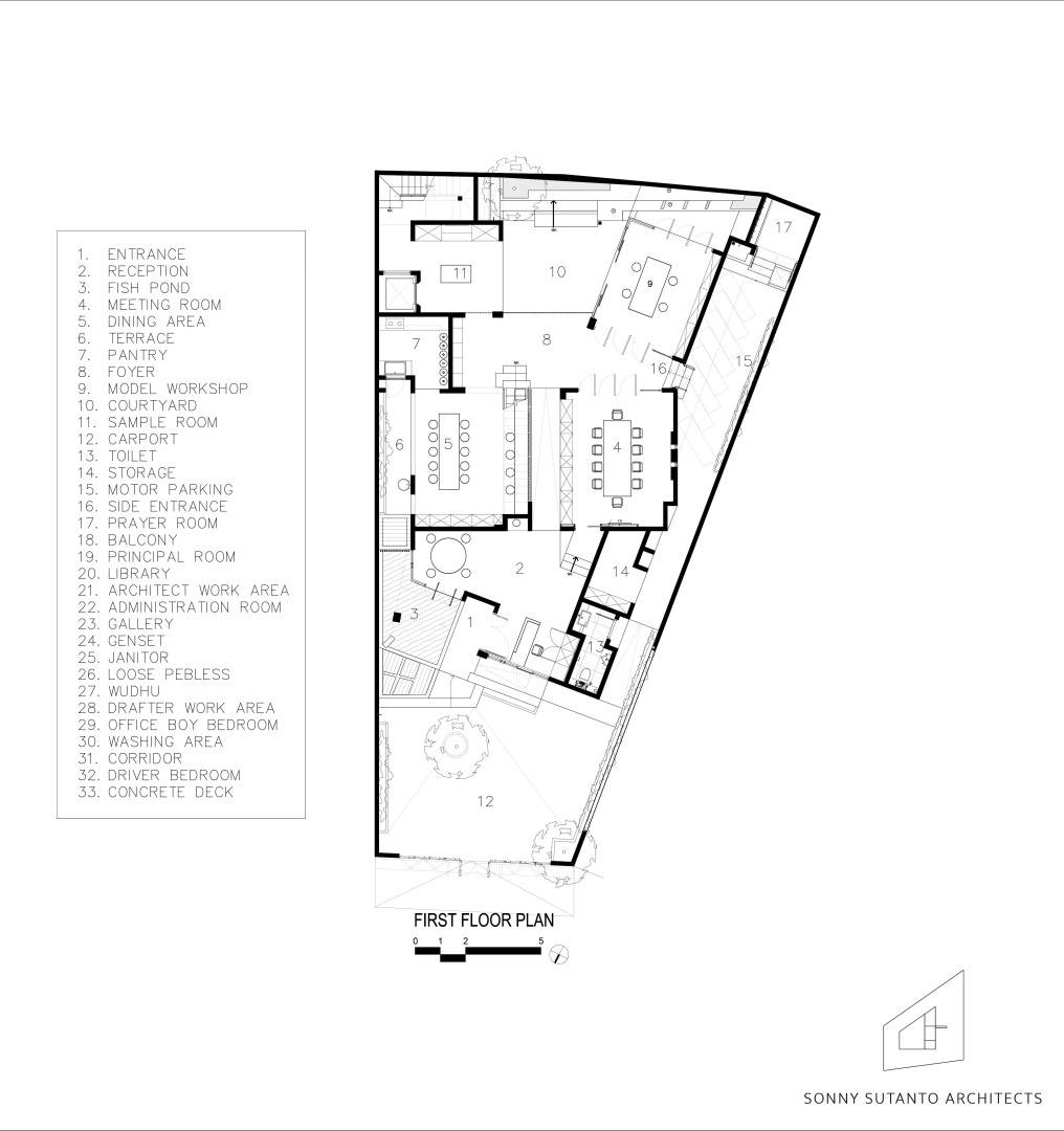 Sonny Sutanto Architects Sonny Sutanto Architects New Office Sunter, North Jakarta, Indonesia Sunter, North Jakarta, Indonesia 1St Floor Plan Contemporary  2087