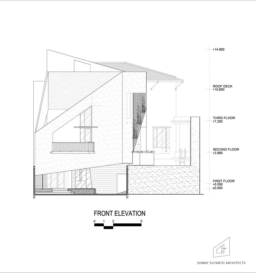 Sonny Sutanto Architects Sonny Sutanto Architects New Office Sunter, North Jakarta, Indonesia Sunter, North Jakarta, Indonesia Elevation   2090
