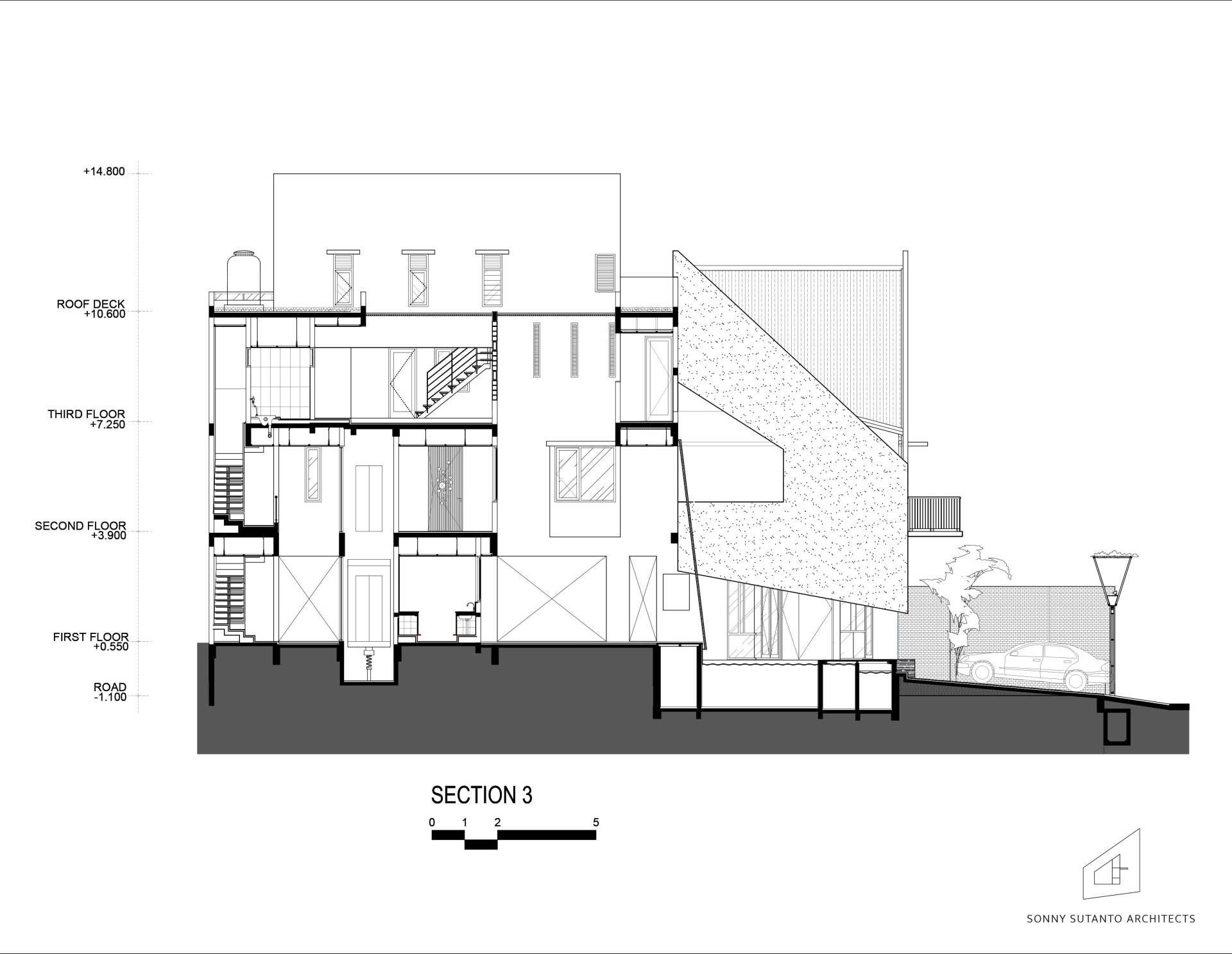 Sonny Sutanto Architects Sonny Sutanto Architects New Office Sunter, North Jakarta, Indonesia Sunter, North Jakarta, Indonesia Masterplan Section 3   2094