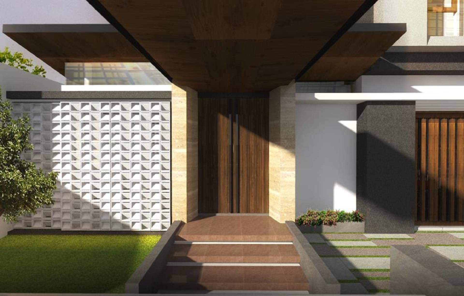 Phidias Indonesia Gura-Gura House Duren Tiga, South Jakarta Duren Tiga, South Jakarta Front Door Modern  2439
