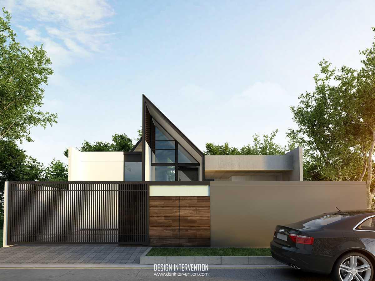 Design Intervention K House Kebayoran Kebayoran Front View   13980