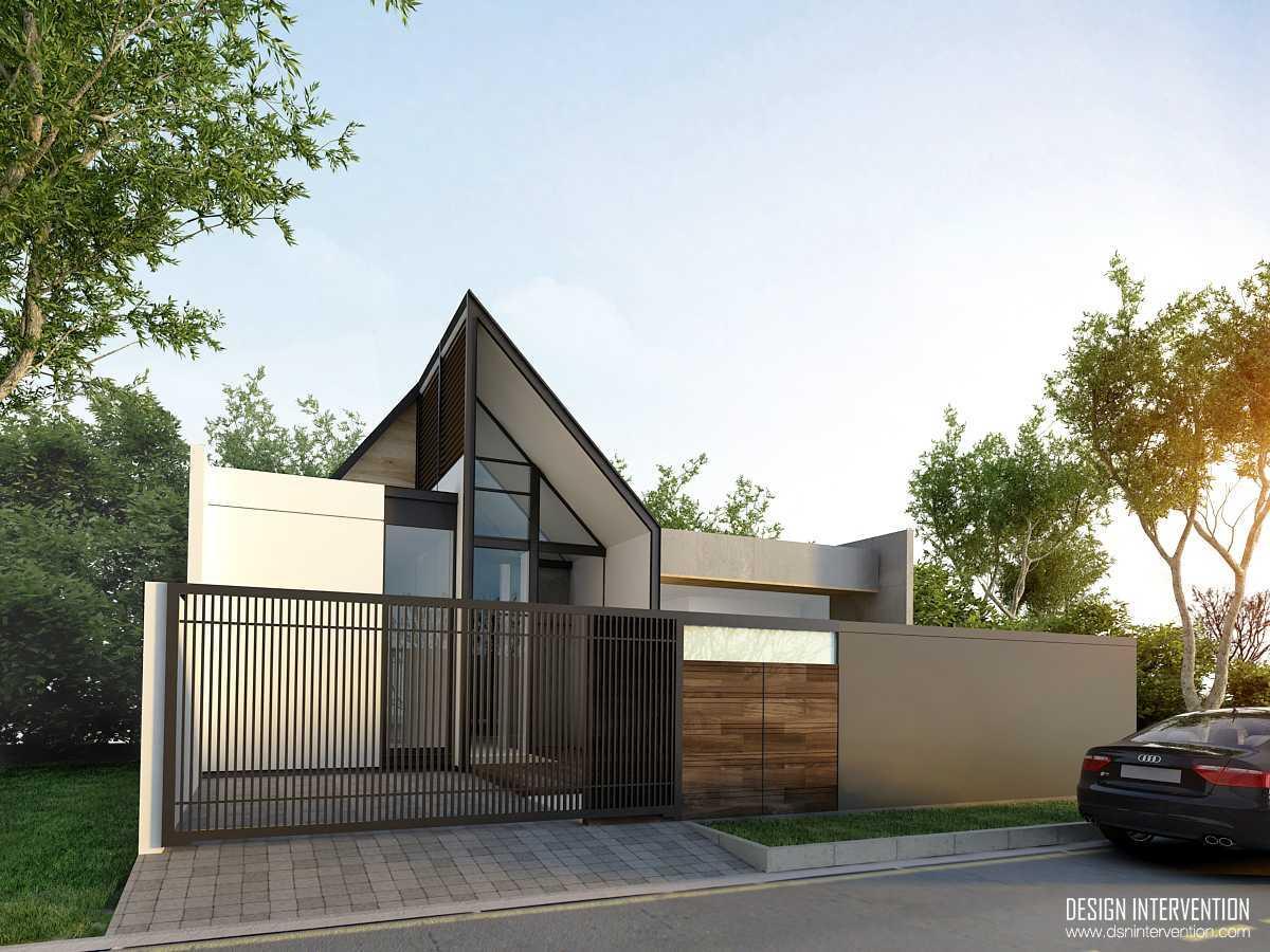 Design Intervention K House Kebayoran Kebayoran Front View   13981