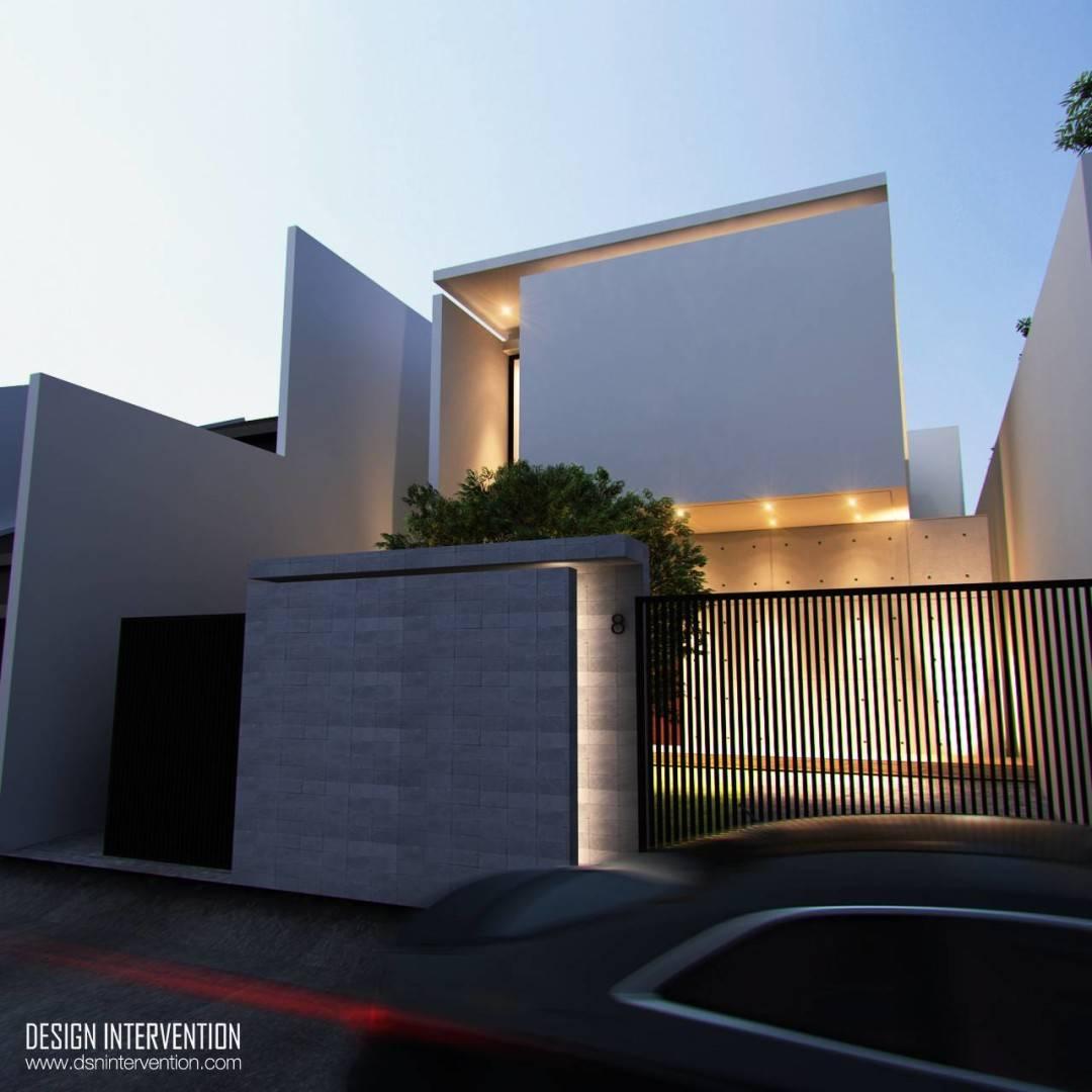 Design Intervention J House At Gading Serpong Tangerang, Banten, Indonesia Tangerang, Banten, Indonesia Facade View Minimalis,modern,glass  2534
