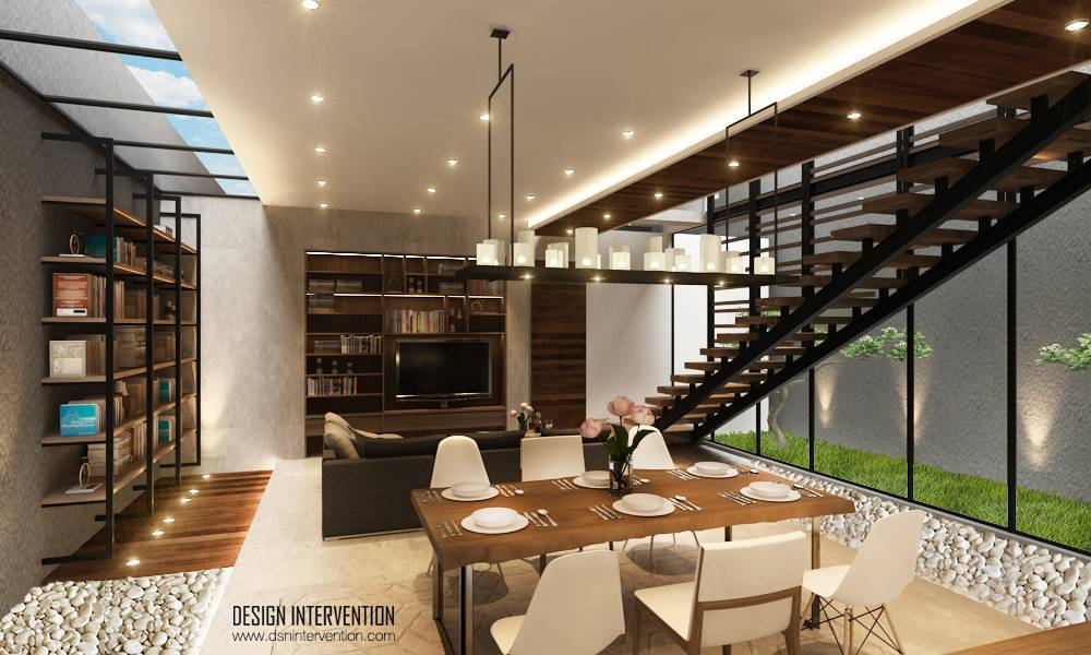 Design Intervention J House At Gading Serpong Tangerang, Banten, Indonesia Tangerang, Banten, Indonesia Dining And Living Room Minimalis,modern,glass  2537