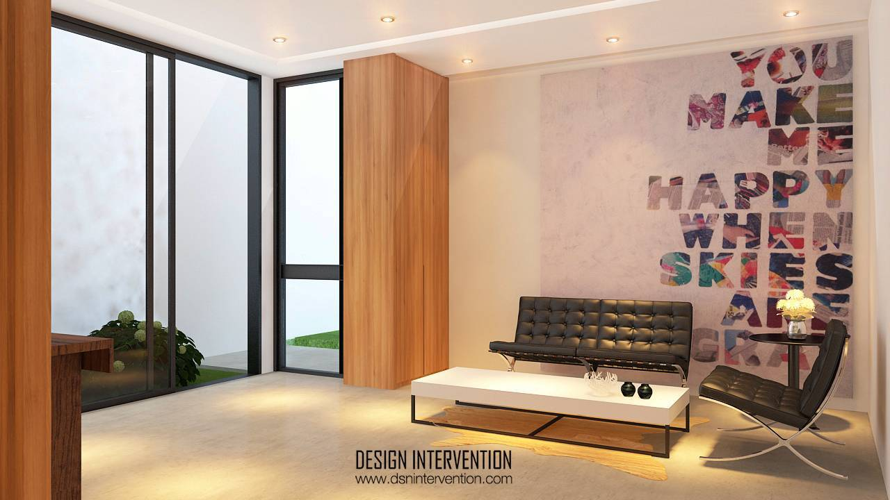 Design Intervention Taman Ratu House Jakarta Jakarta Foyer View Kontemporer  2543