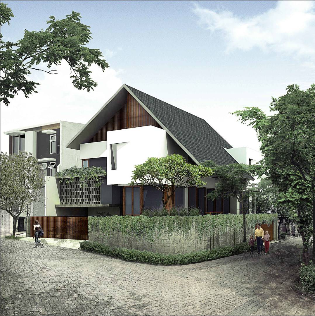 J+A Design Flamboyant House At Rempoa Jl. Flamboyant Rempoa, Rempoa, Ciputat Tim., Kota Tangerang Selatan, Banten 15412, Indonesia Tangerang Selatan Flamboyant-House-By-Ja Modern,tropis  2635