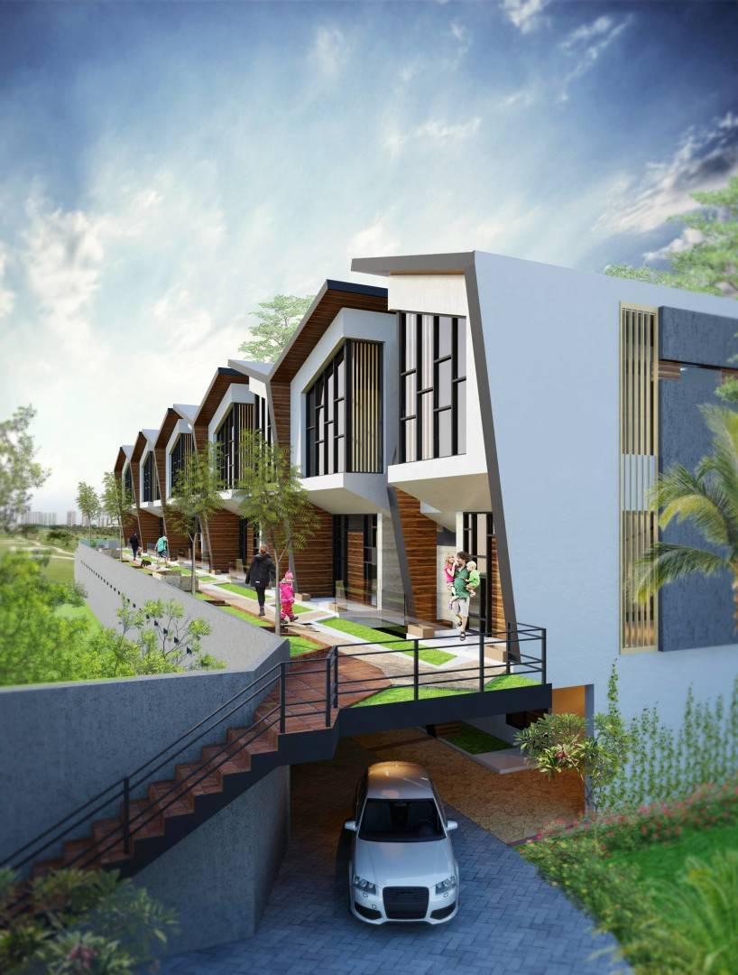 Small Space Interior Terra Golf Residence At Pondok Indah Jakarta, Indonesia Jakarta, Indonesia Facade-View1 Kontemporer  6491