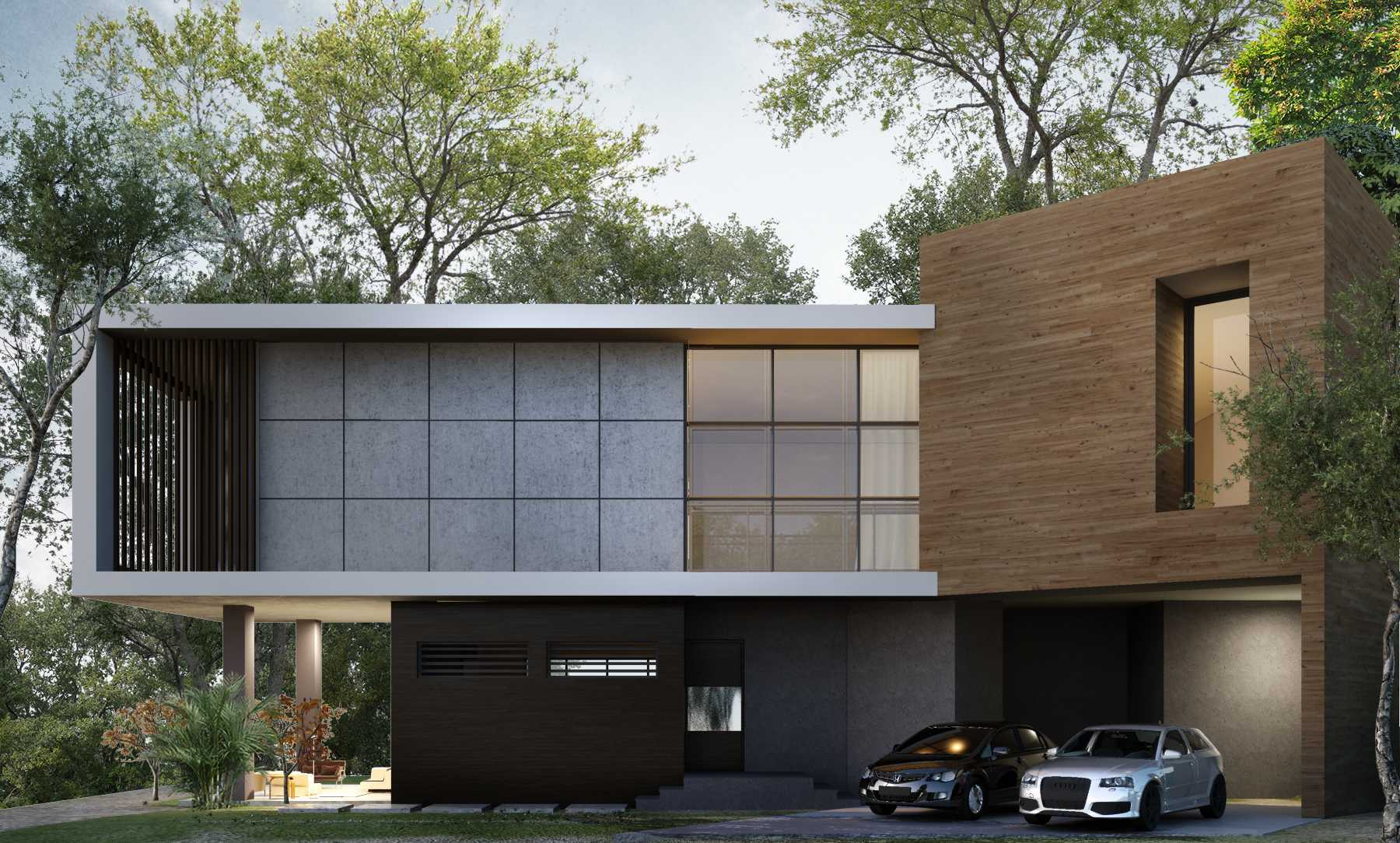 Small Space Interior Tropical Modern House Batam Batam Facade-1 Modern,tropis,wood  13350