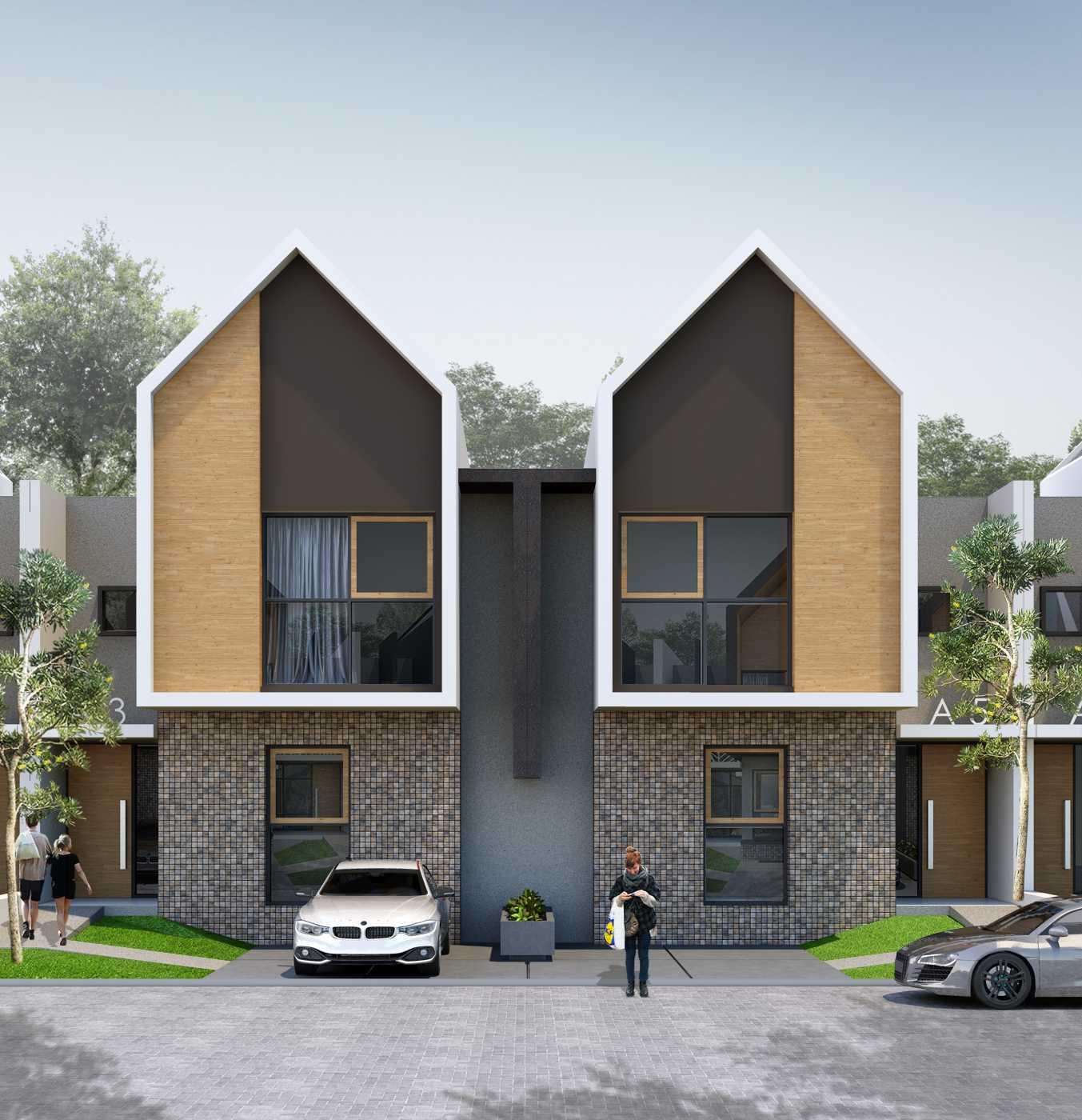 Small Space Interior Tropical Modern House Batam Batam Facade-Airlangga-Type-68 Modern,tropis,wood  13489