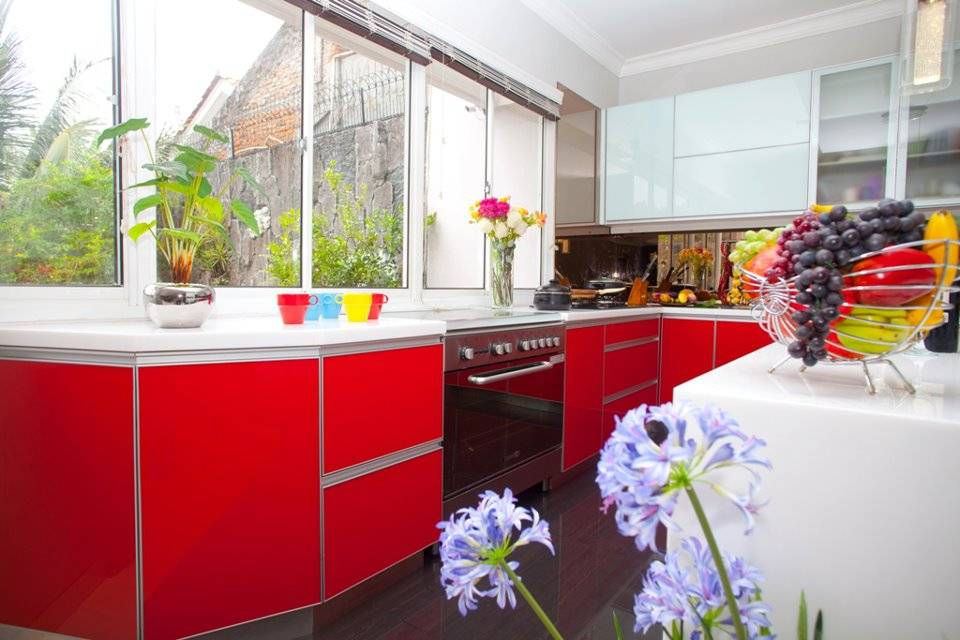 Zeno Living Modern Minimalist Kitchen-Red And White Jakarta  Jakarta  Modern-Minimalist-Kitchen-Red-And-White   2753