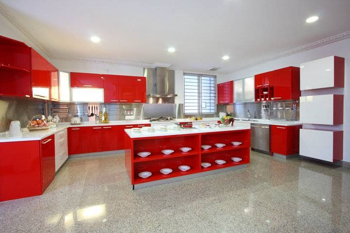 Zeno Living Various Kitchen Design By Zeno Living Jakarta Jakarta Modern-Minimalist-Kitchen-7-Red-And-White   2783