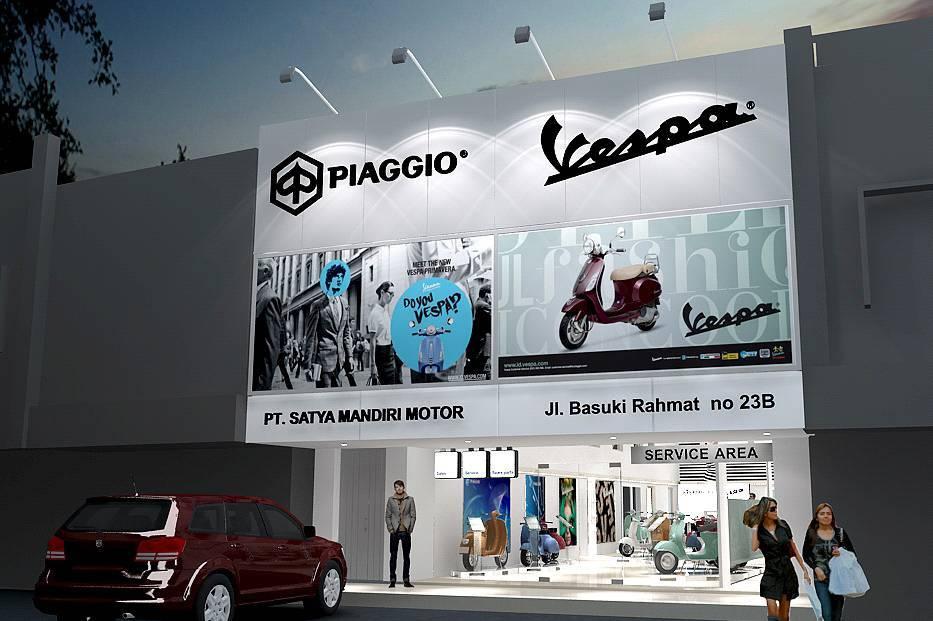 Tito Lukito Piaggio Vespa New Showroom At Malang East Java East Java Front-View   2863
