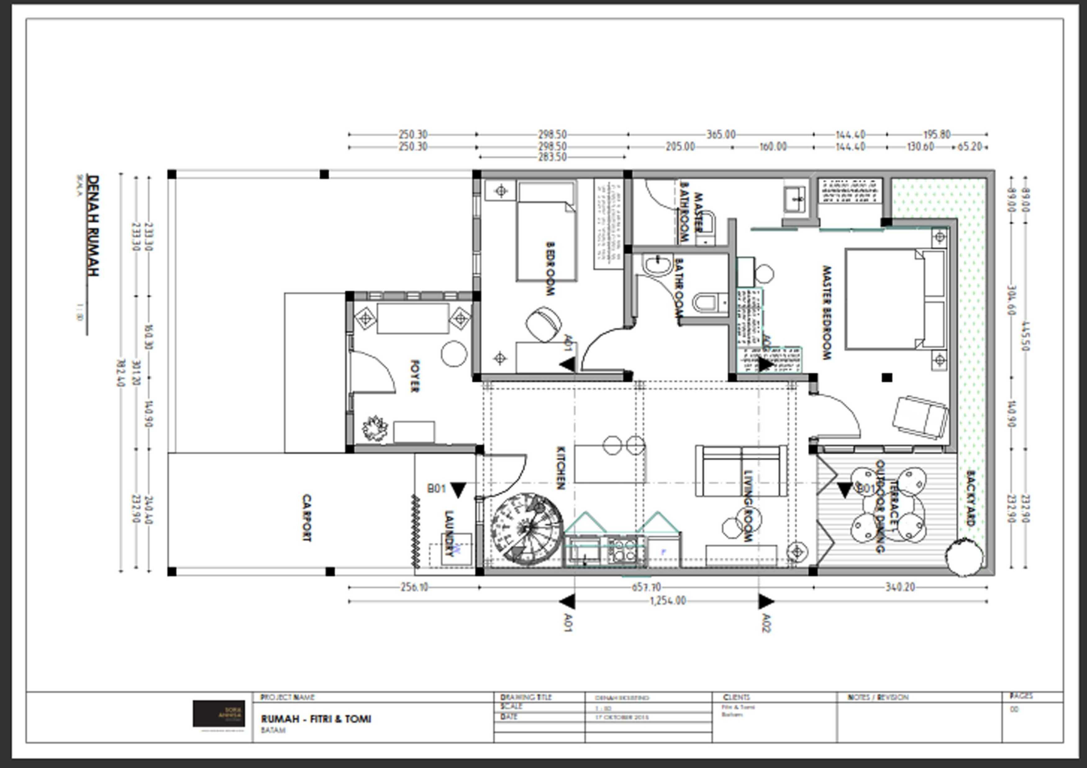 Gilbert Yohannes Voerman Fy House Kda Housing . Batam Centre Kda Housing . Batam Centre Denah-20160322-Wa0037 Kontemporer  27177