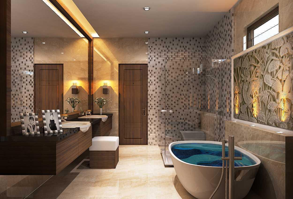 Gilbert Yohannes Voerman S17 House Batam Batam Rev-Master-Bathroom Kontemporer  29727