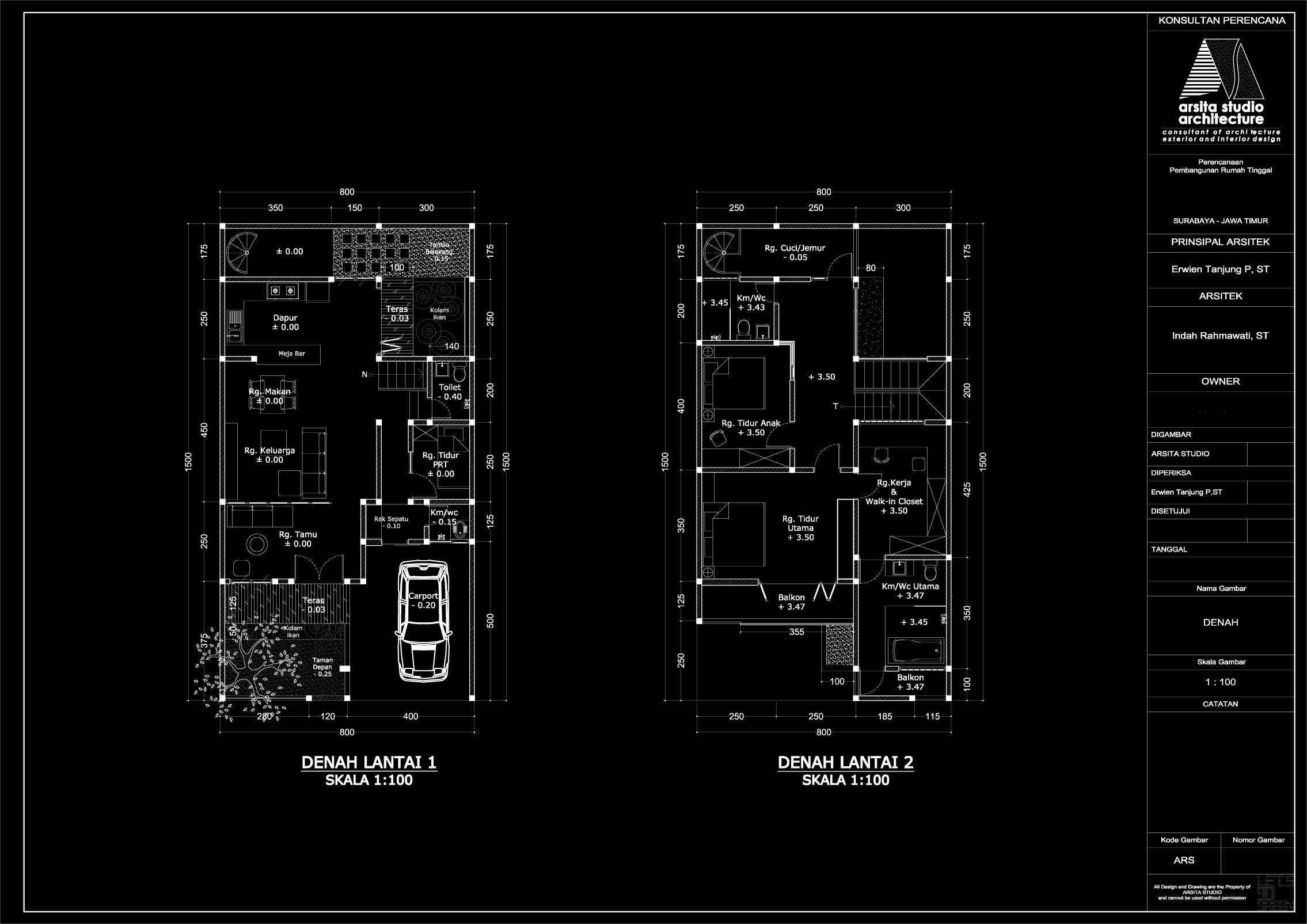 Arsita Studio Architecture Javanese Bw House Surabaya, Jawa Timur Surabaya, Jawa Timur Denah-Rumah-Jawa-Modern Modern  19881