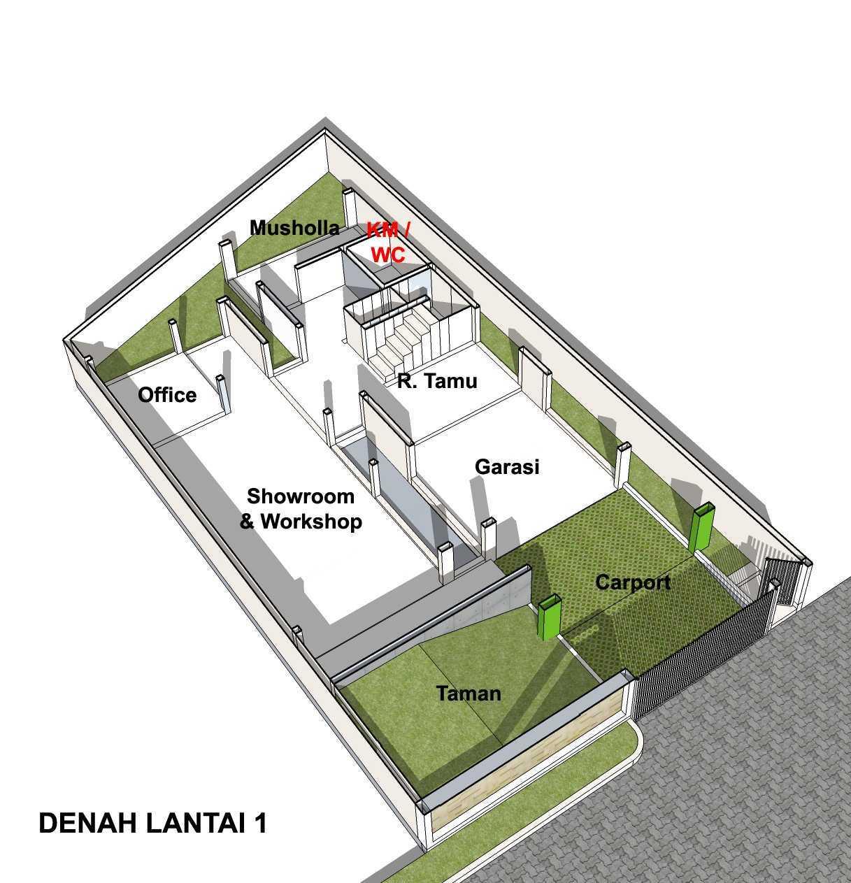 Arsita Studio Architecture Rumah Atap Curam Gresik, Jawa Timur Gresik, Jawa Timur Denah-Lantai-1   20114