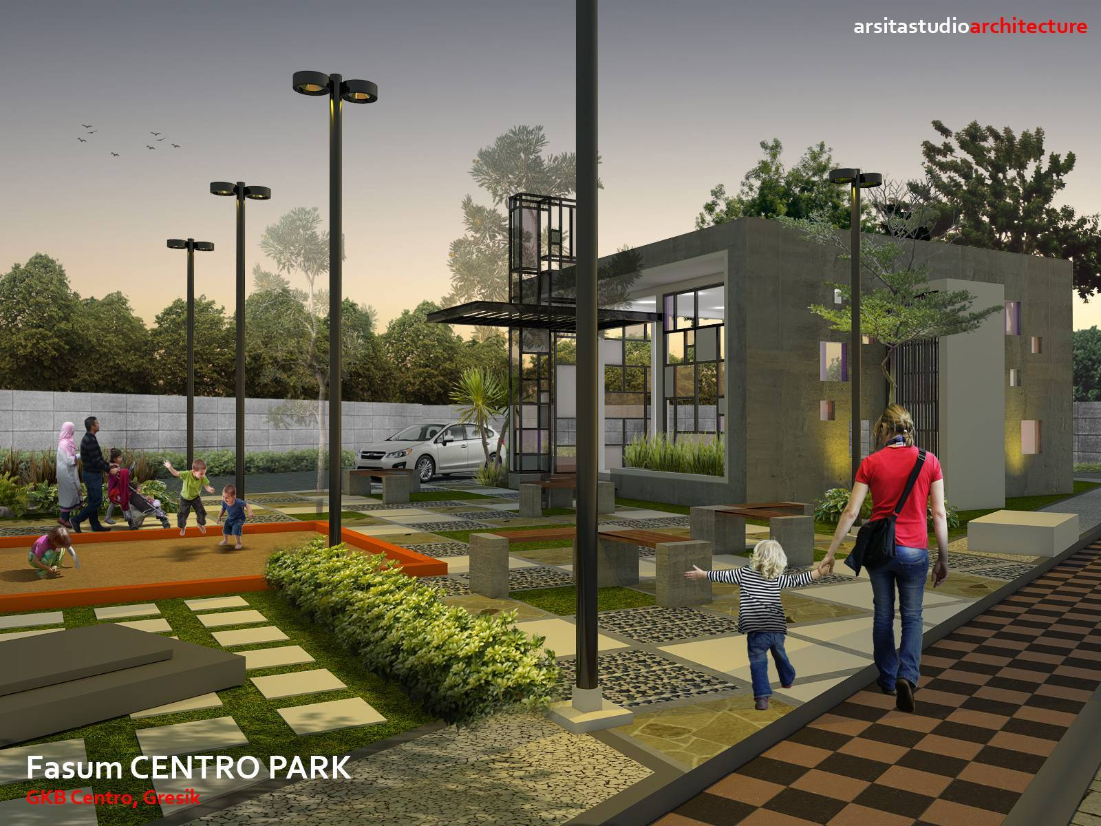 Arsita Studio Architecture Centro Park  Gresik, Jawa Timur Gresik, Jawa Timur Centro-Park-Night-Vision   3271