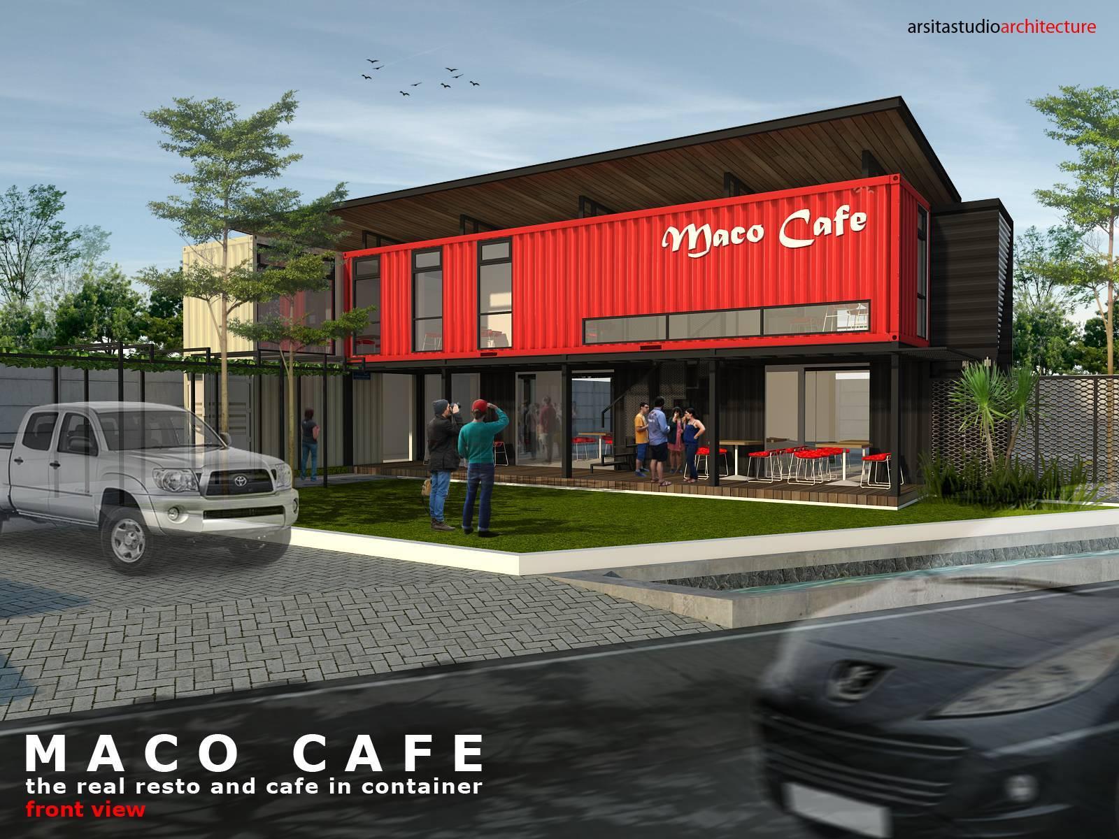 Arsita Studio Architecture Maco Cafe Gresik, Jawa Timur Gresik, Jawa Timur Maco-Cafe-Front-View Industrial  3282