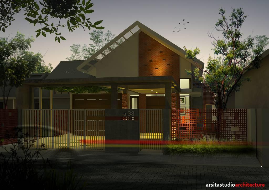 Arsita Studio Architecture D Private House Sidoarjo, Jawa Timur Sidoarjo, Jawa Timur Night-View   3296