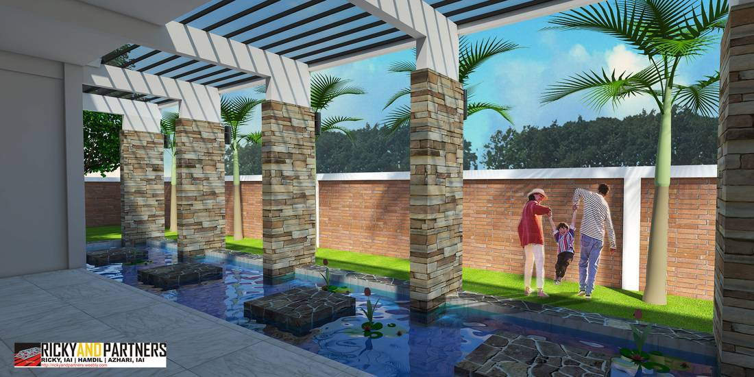 Rickyandpartners Architect Studio Y House At Merauke Papua, Indonesia Papua, Indonesia Pool-At-Backyard-View Kontemporer  3330