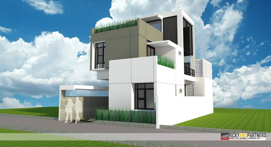 Rickyandpartners Architect Studio R House At Acisa Asri Pontianak, West Kalimantan, Indonesia Pontianak, West Kalimantan, Indonesia Front-View Modern  3343