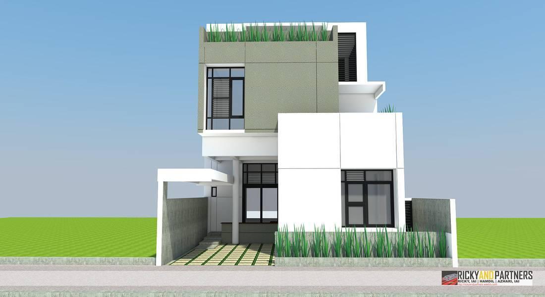 Rickyandpartners Architect Studio R House At Acisa Asri Pontianak, West Kalimantan, Indonesia Pontianak, West Kalimantan, Indonesia Facade-View Modern  3345