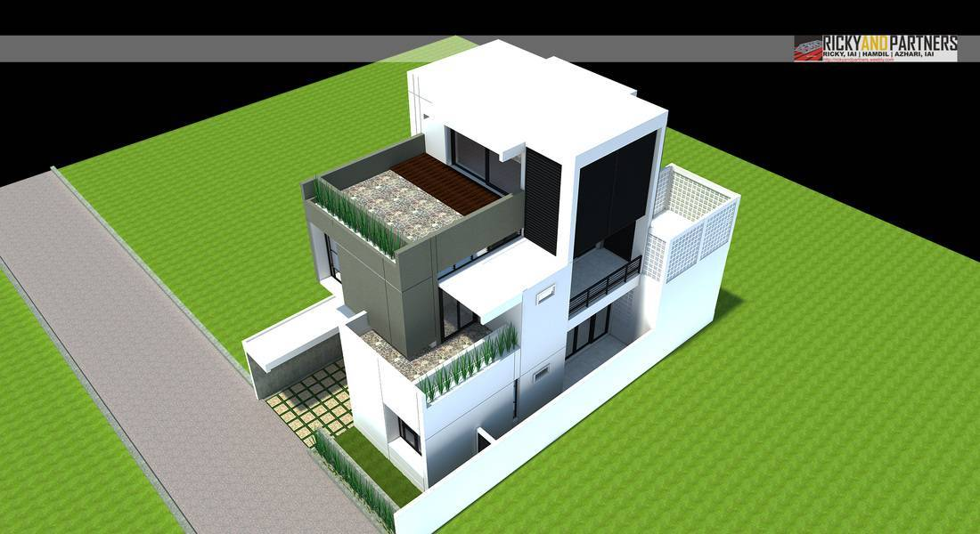 Rickyandpartners Architect Studio R House At Acisa Asri Pontianak, West Kalimantan, Indonesia Pontianak, West Kalimantan, Indonesia Aerial-View Modern  3349