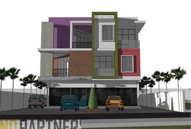Rickyandpartners Architect Studio Shop House At Parit Tokaya Pontianak, West Kalimantan, Indonesia Pontianak, West Kalimantan, Indonesia Facade-View Modern  3398