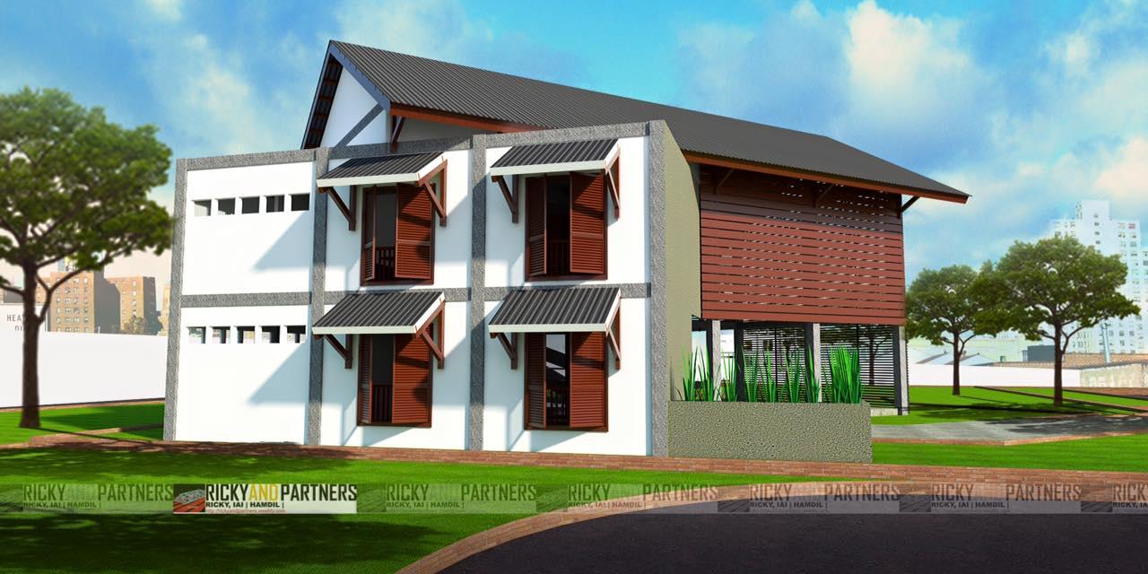 Rickyandpartners Architect Studio Long House Cafe At Pontianak West Kalimantan, Indonesia West Kalimantan, Indonesia Back-Yard-View Tradisional  3453