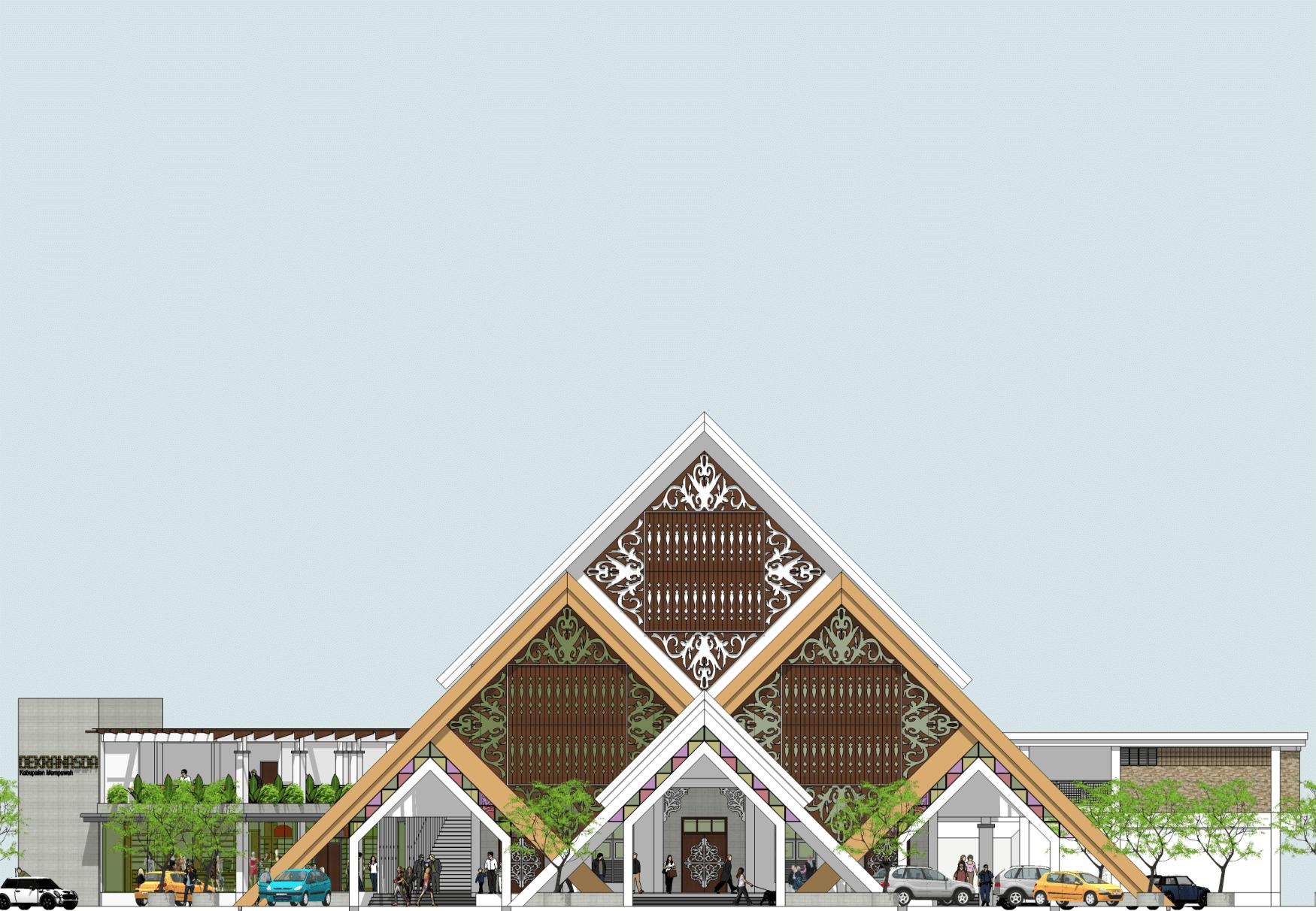 Rickyandpartners Architect Studio Mempawah Assembly House  Pontianak, West Kalimantan, Indonesia Pontianak, West Kalimantan, Indonesia Facade Modern  3458