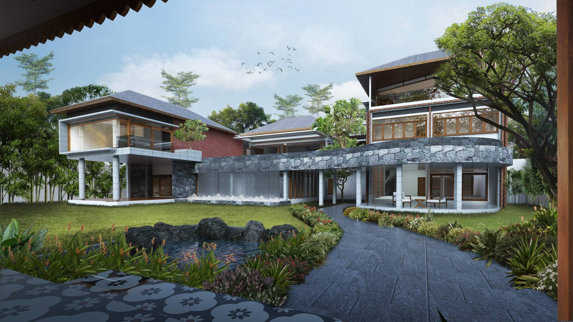 Saso Architecture Studio Private House - Mansion House Kudus Regency, Central Java, Indonesia Kudus Central Java Facade   3319