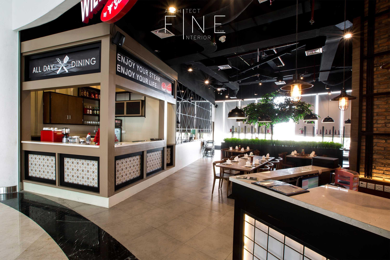 Fine Team Studio Will's Steak Mall Cipianng Indah Mall Cipinang Indah, Jakarta Mall Cipinang Indah, Jakarta Dining Area Kontemporer  16669