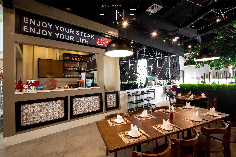 Fine Team Studio Will's Steak Mall Cipianng Indah Mall Cipinang Indah, Jakarta Mall Cipinang Indah, Jakarta Dining Area Kontemporer  16673