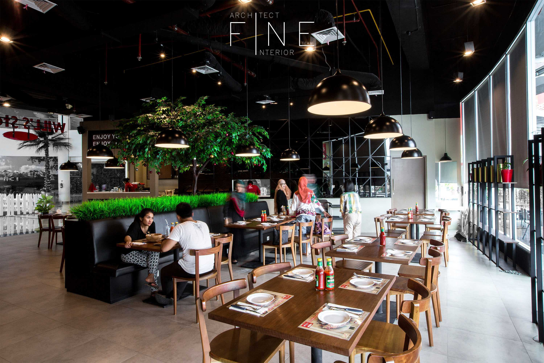 Fine Team Studio Will's Steak Mall Cipianng Indah Mall Cipinang Indah, Jakarta Mall Cipinang Indah, Jakarta Dining Area Kontemporer  16678