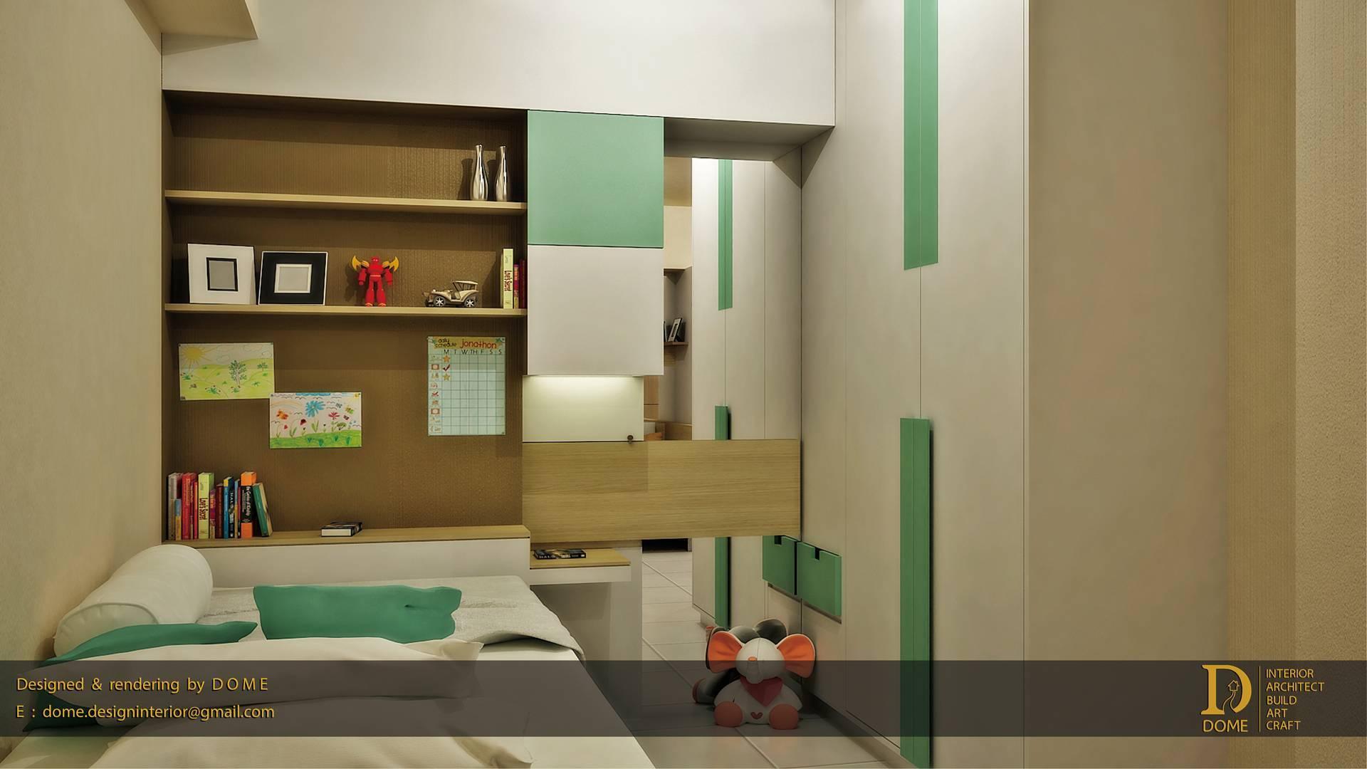 Dome Interiorarch Educity Apartment At Pakuwon City Surabaya, East Java, Indonesia Surabaya, East Java, Indonesia Boys-Bedroom   3515