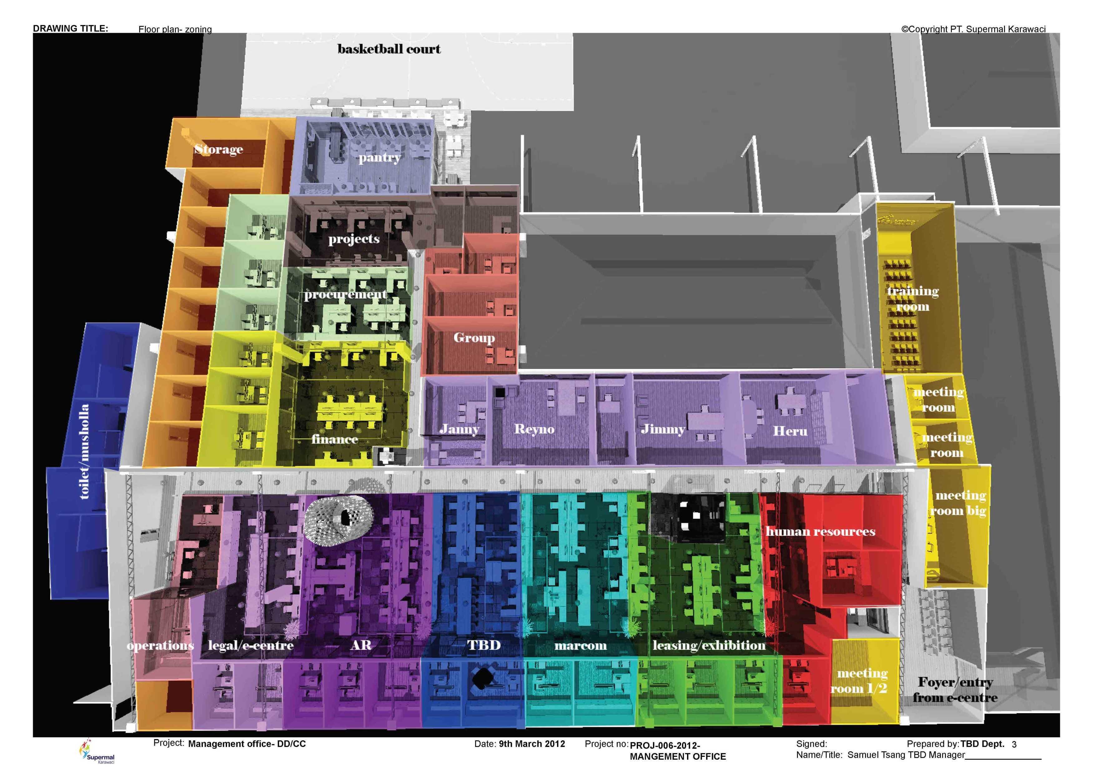 Tau Architect Supermal Karawaci Management Office Karawaci Karawaci Site Plan Industrial  13821